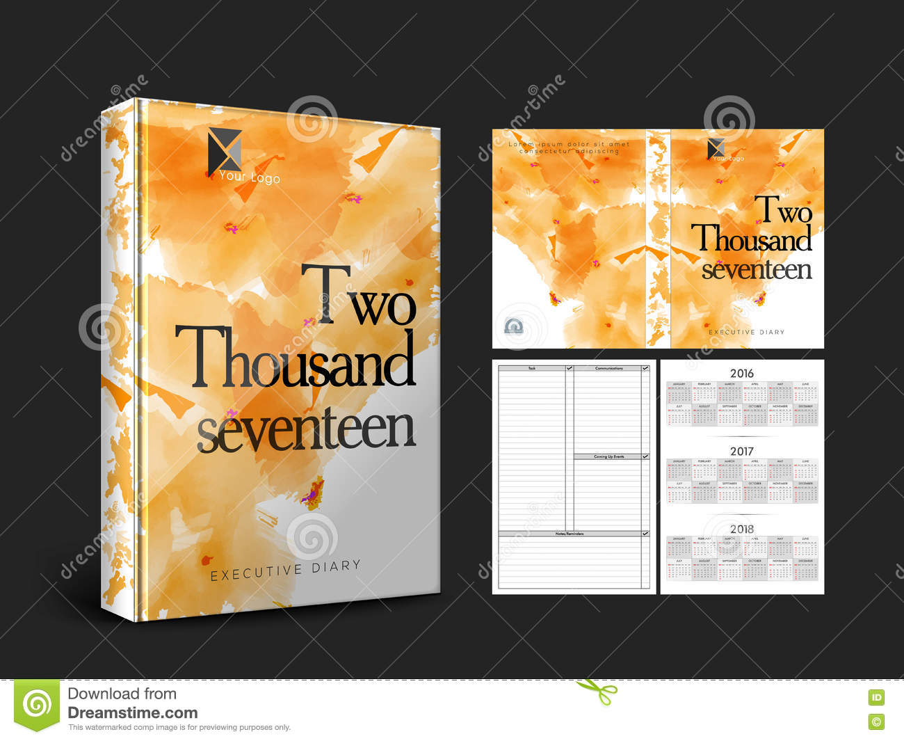 Abstract Diary Cover Design