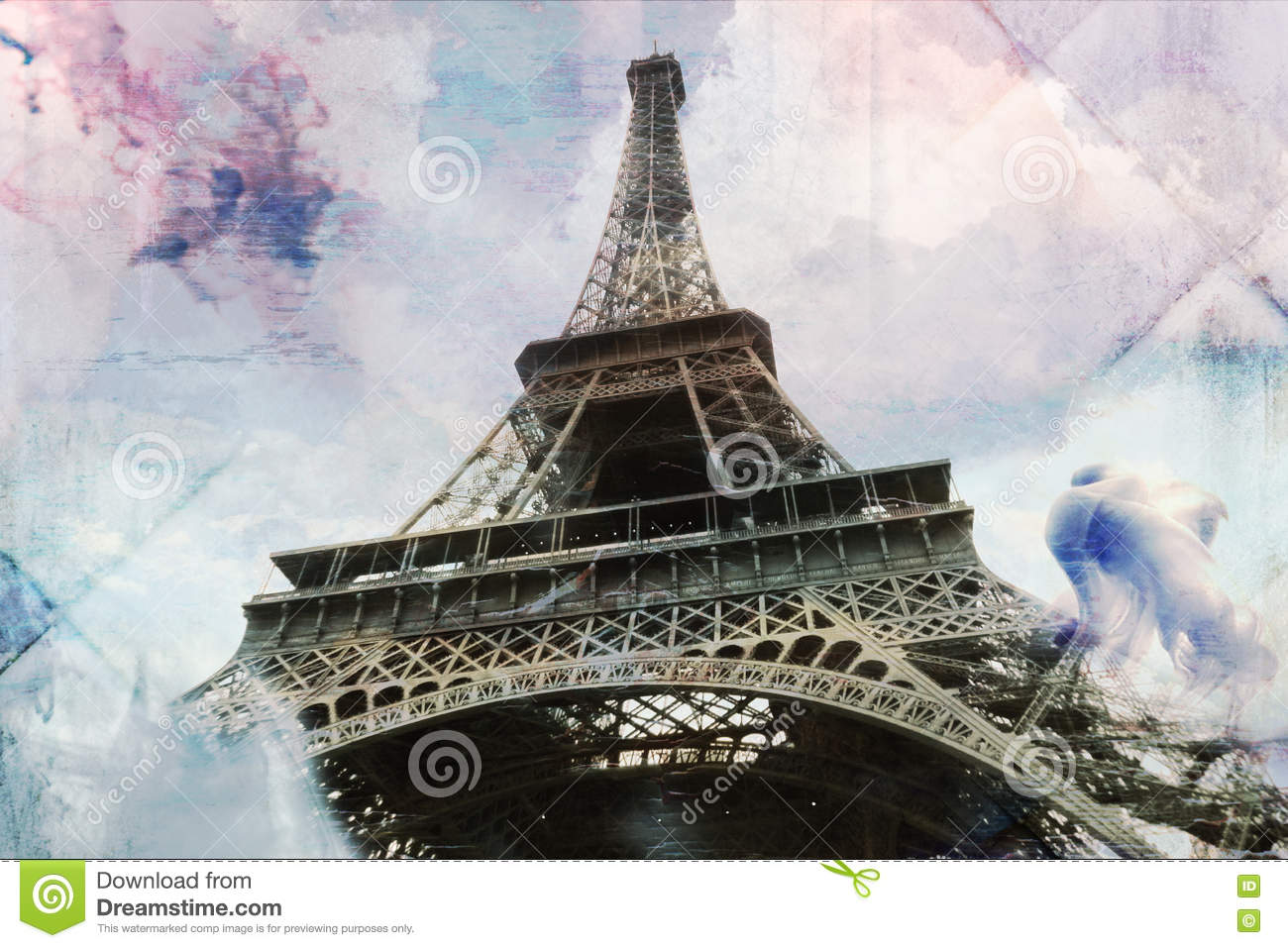 picture regarding Printable Eiffel Tower named Summary Electronic Artwork Of Eiffel Tower In just Paris, Tile Texture