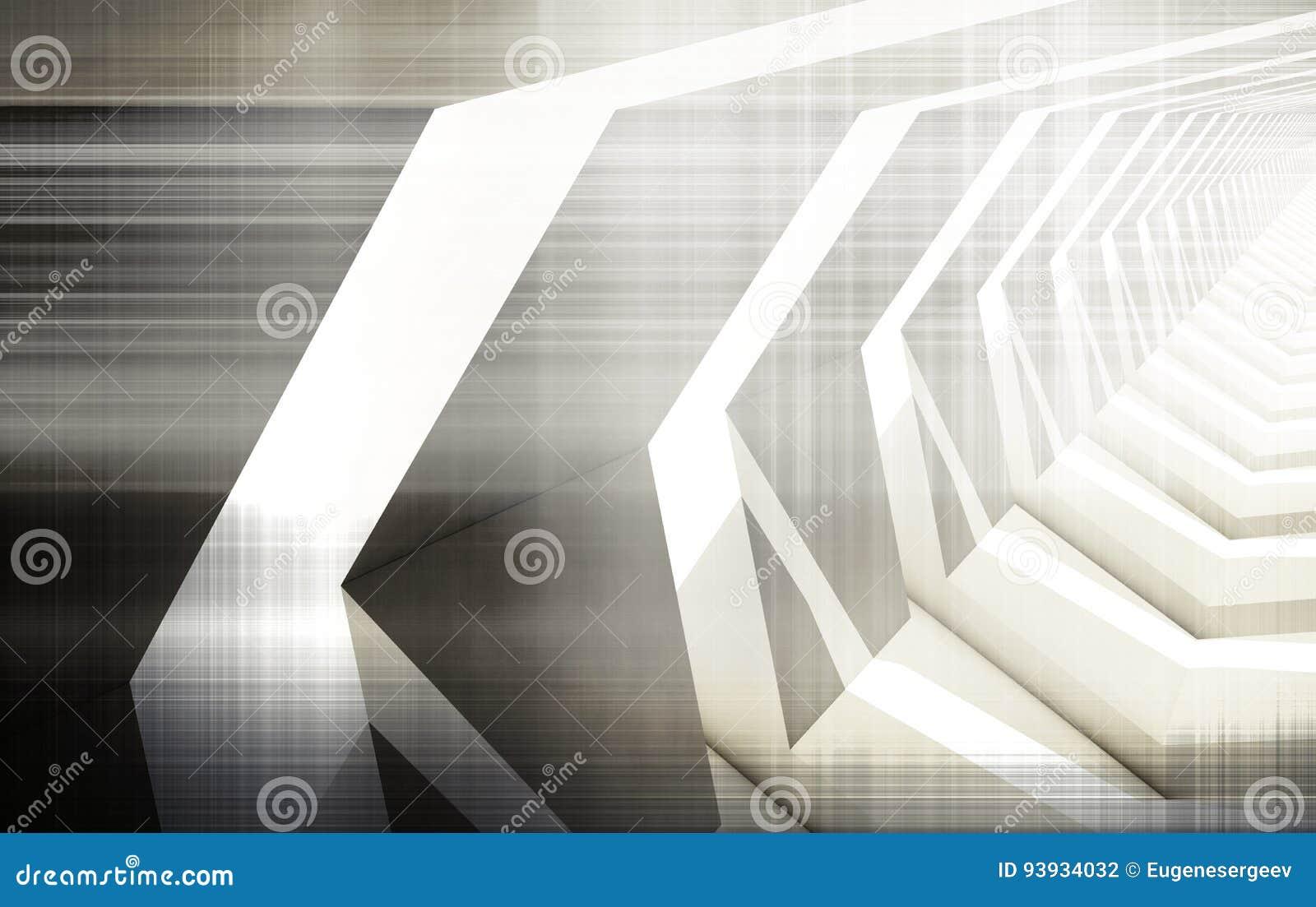 Abstract digital background, high-tech render
