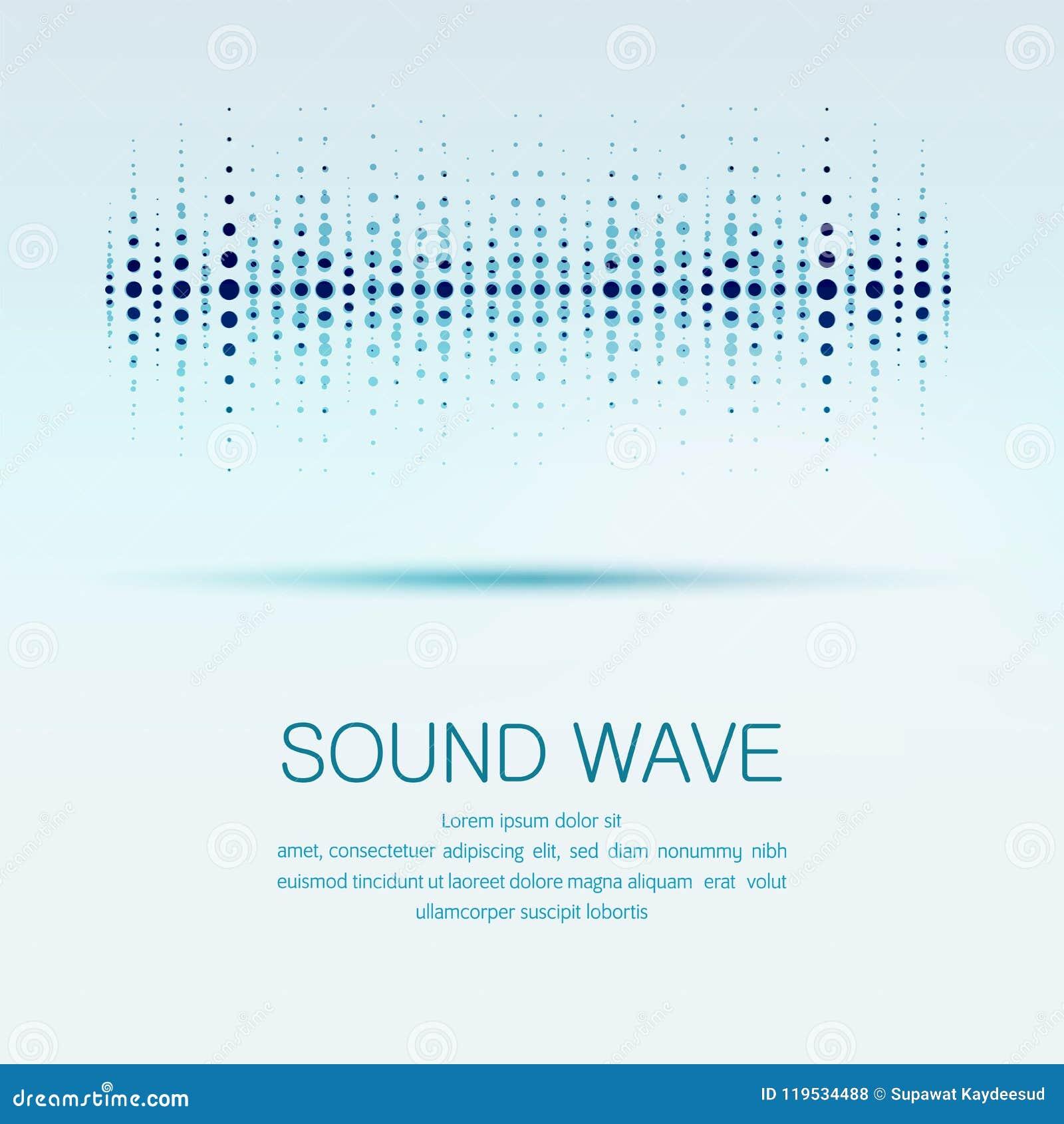 Sound wave stock vector  Illustration of waveform, science - 119534488