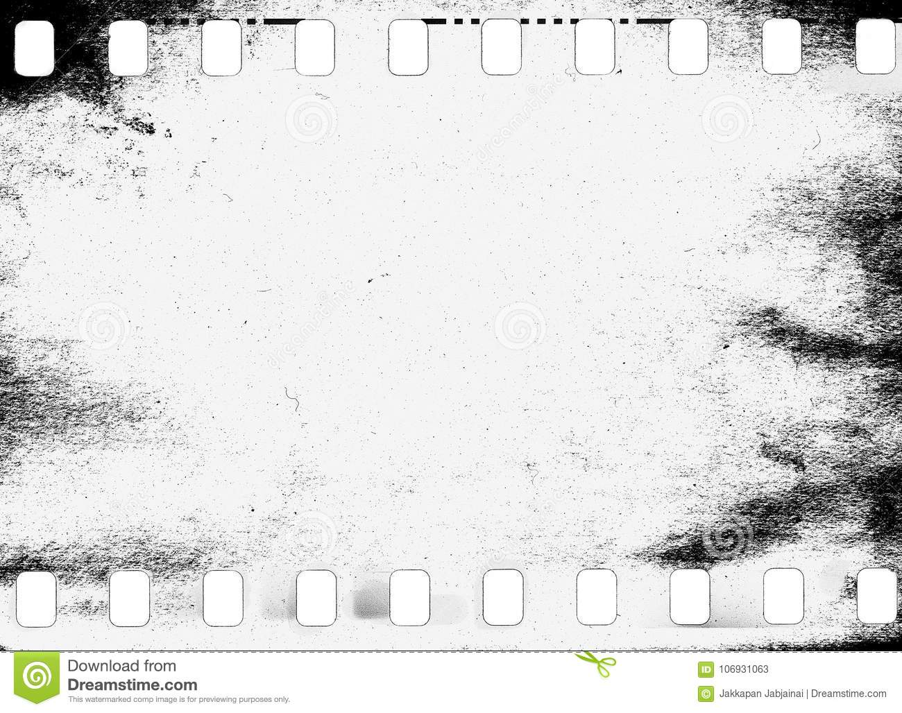 Abstract Dirty Or Aging Film Frame. Stock Illustration ...