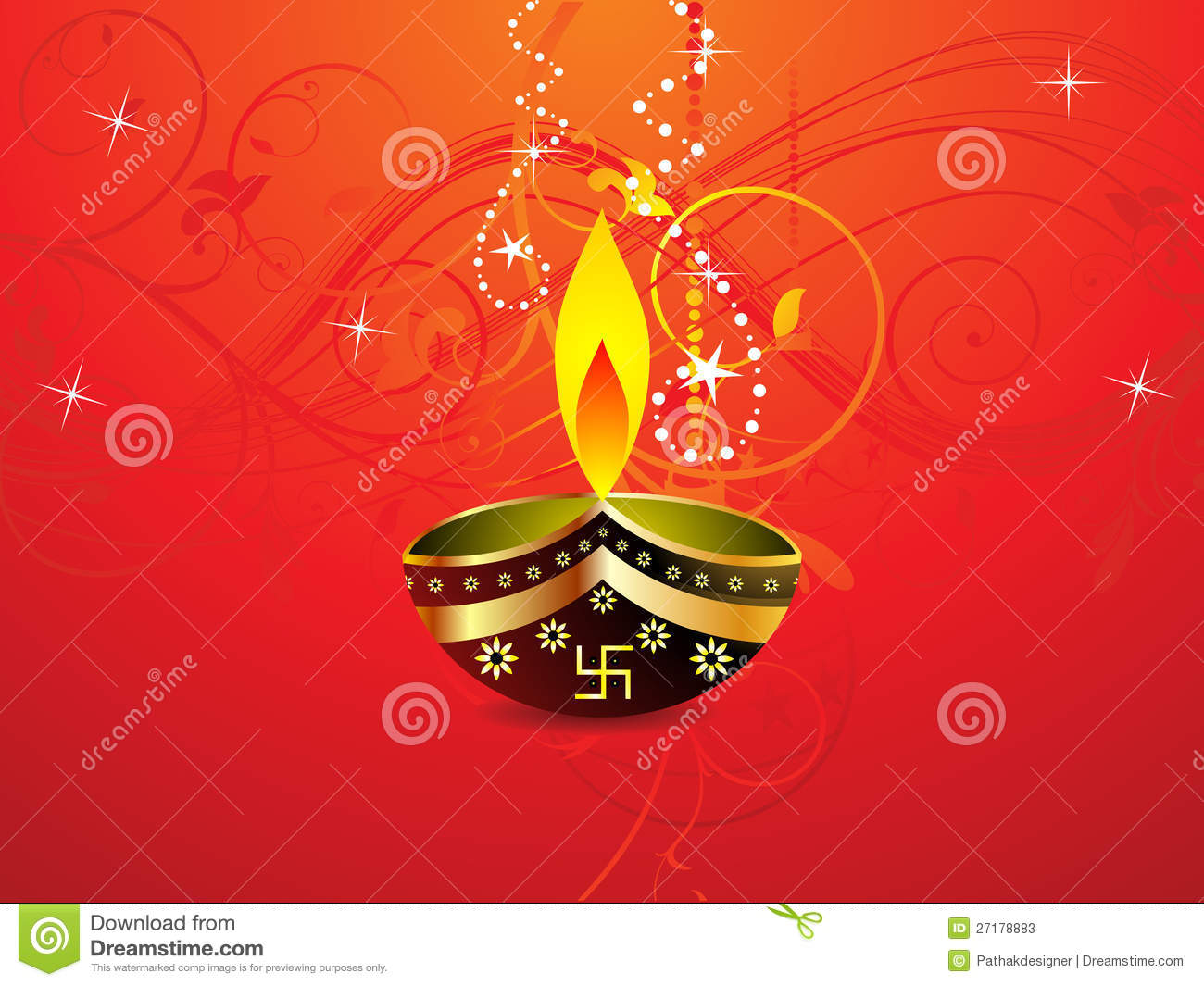 Abstract Diwali Background Template Stock Vector - Illustration of ...