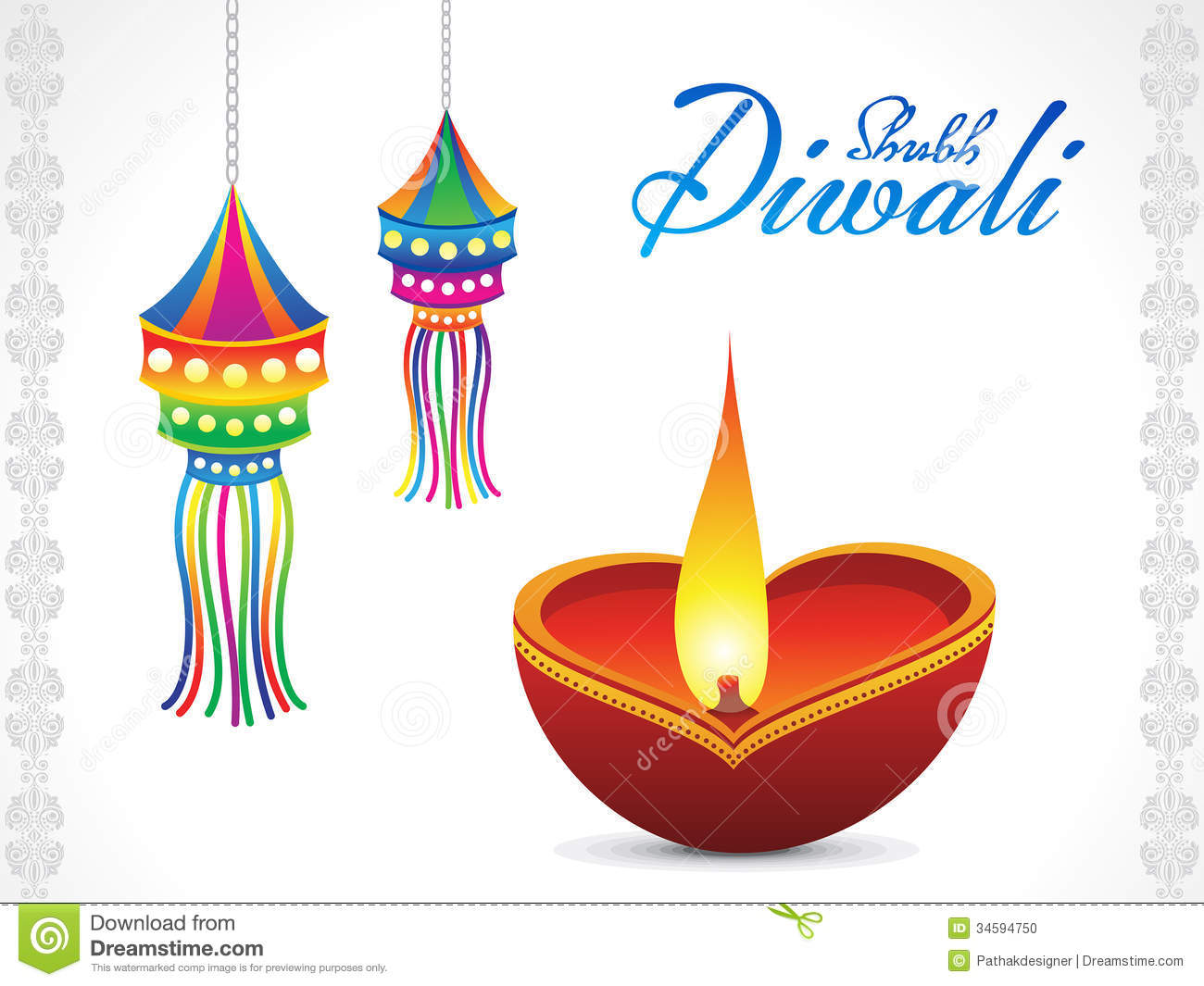 Abstract Diwali Background Stock Photo Image 34594750