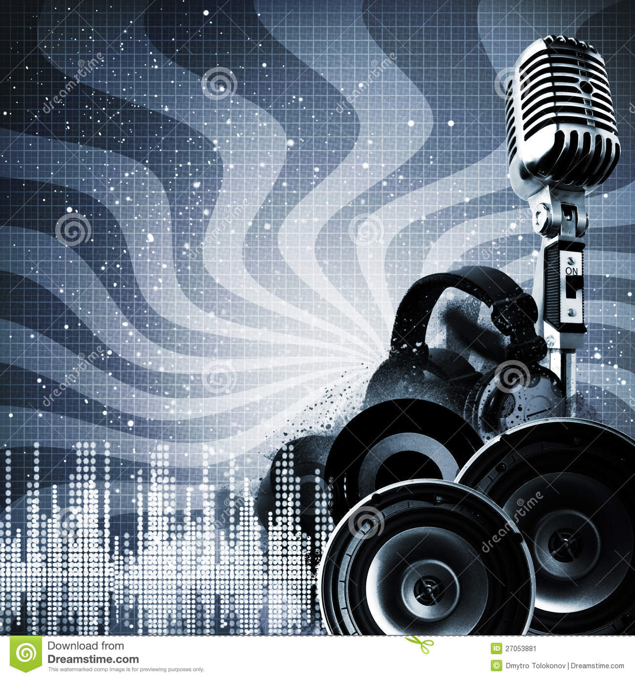 Abstract Dj Backgrounds Stock Image Image 27053881