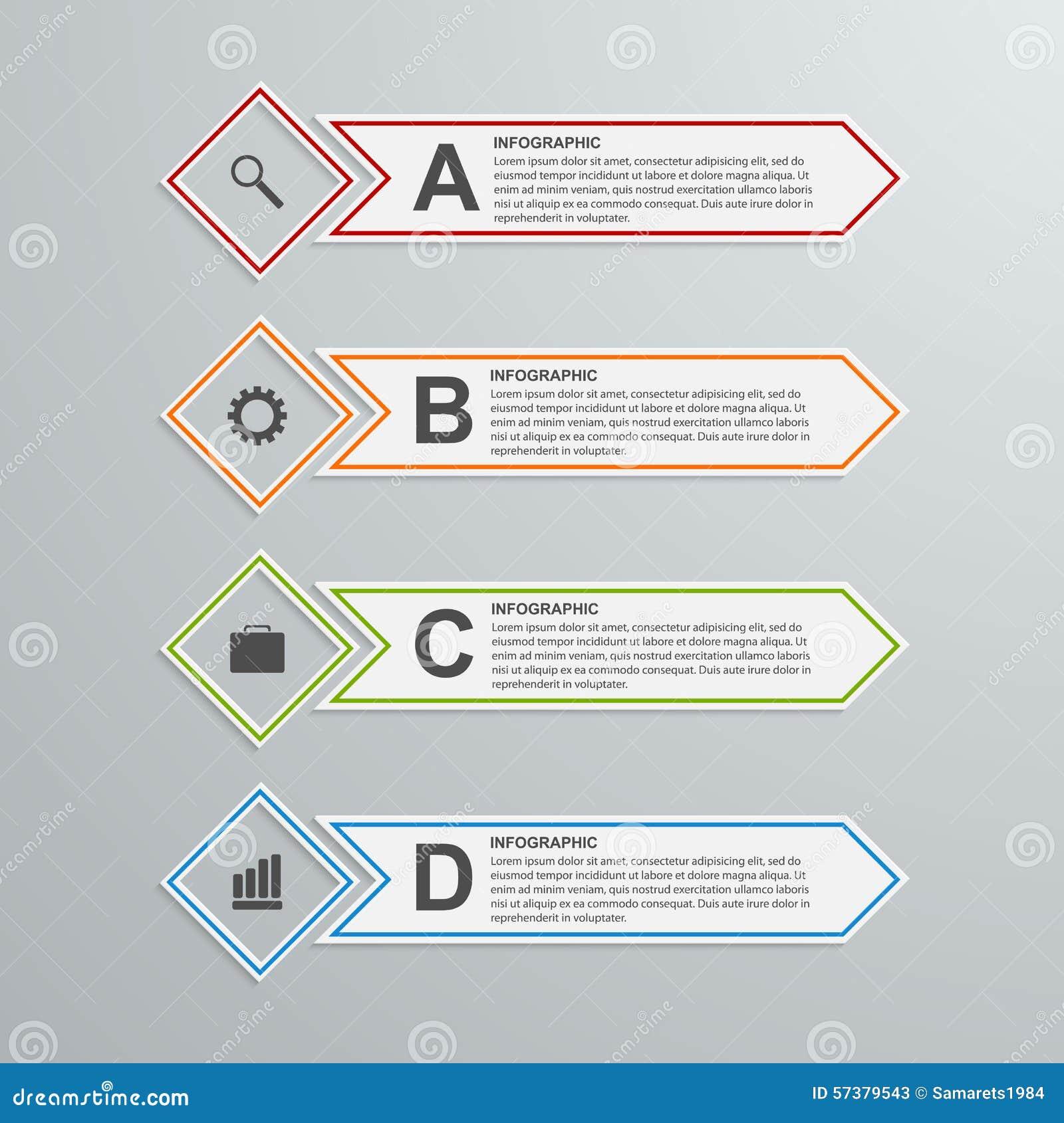 Abstract document infographic ontwerpmalplaatje