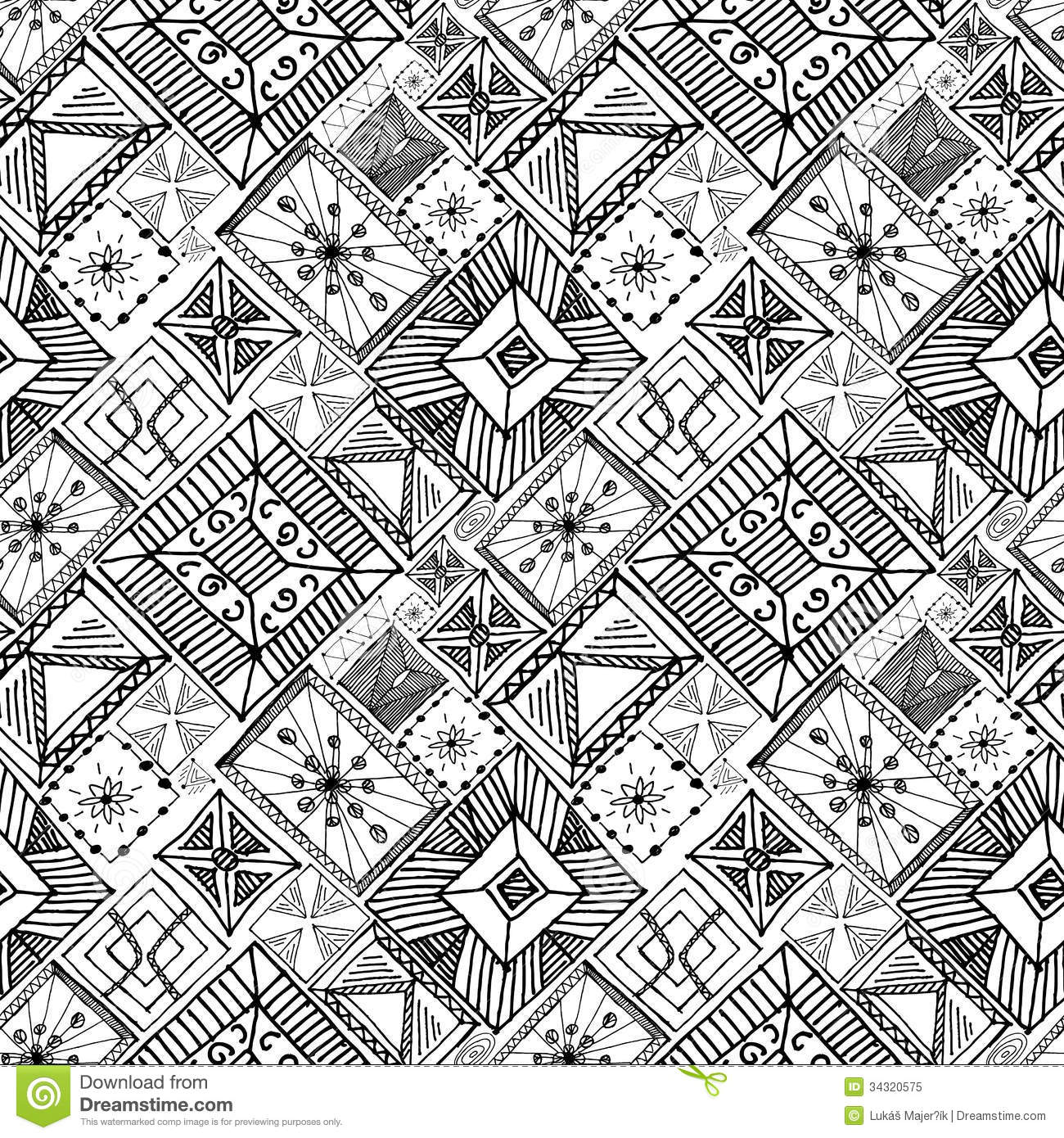 Abstract Doodle Hand Drawn Background Stock Vector Image