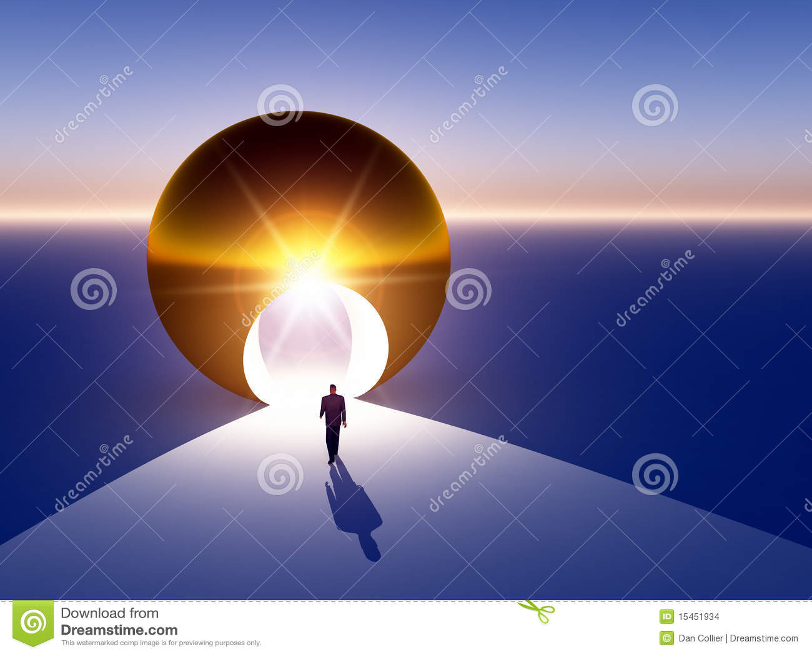 Abstract - Doorway to Golden Opportunity