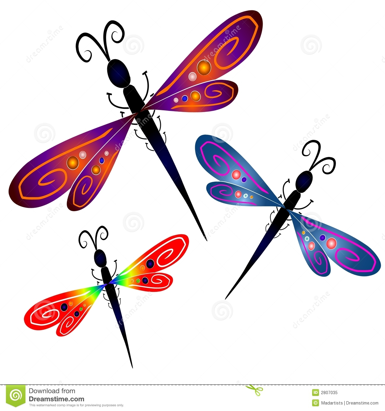 Abstract Dragonfly Clip Art Stock Illustration ...