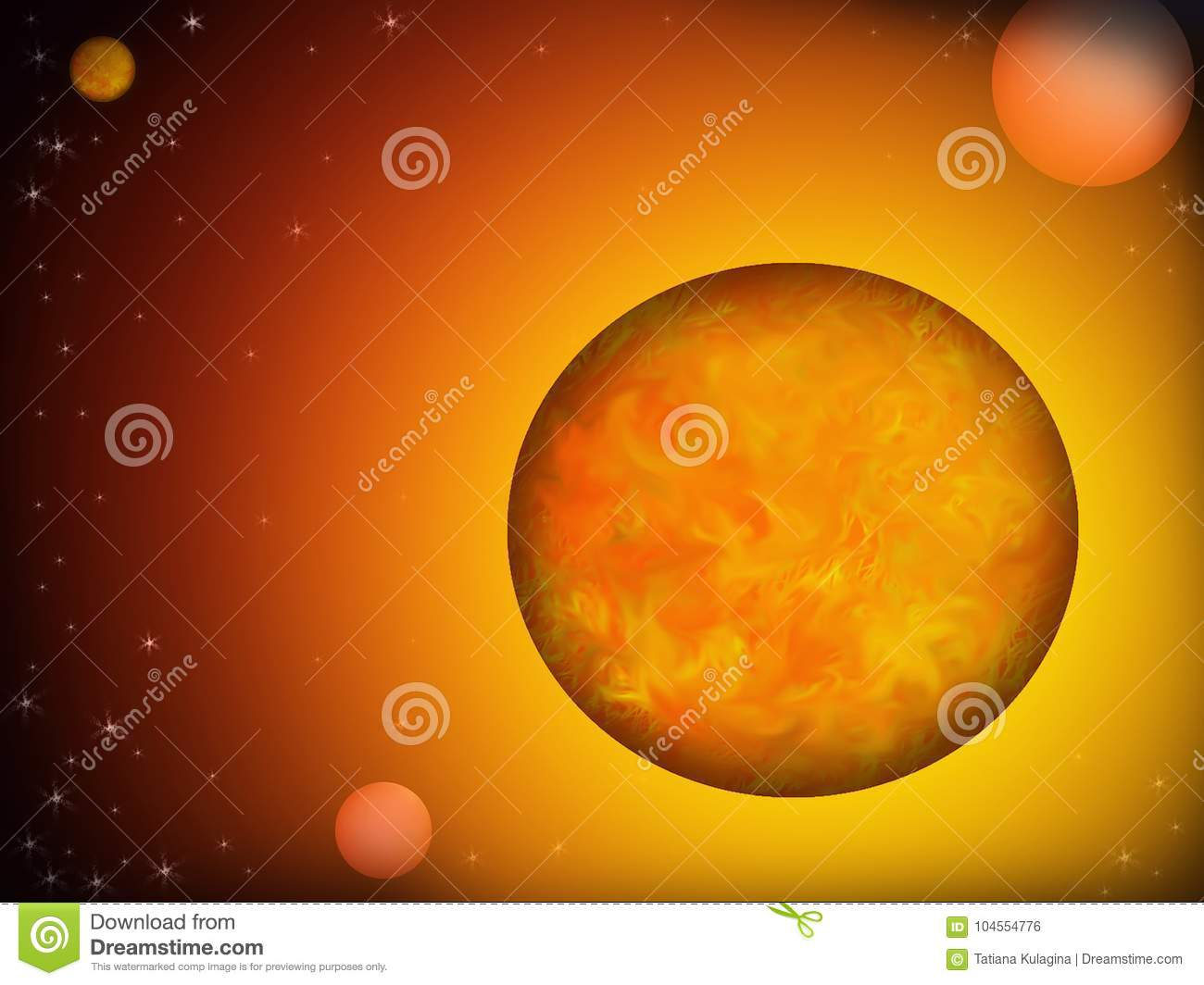 Unknown Planets In Outer Space Stock Illustration Illustration