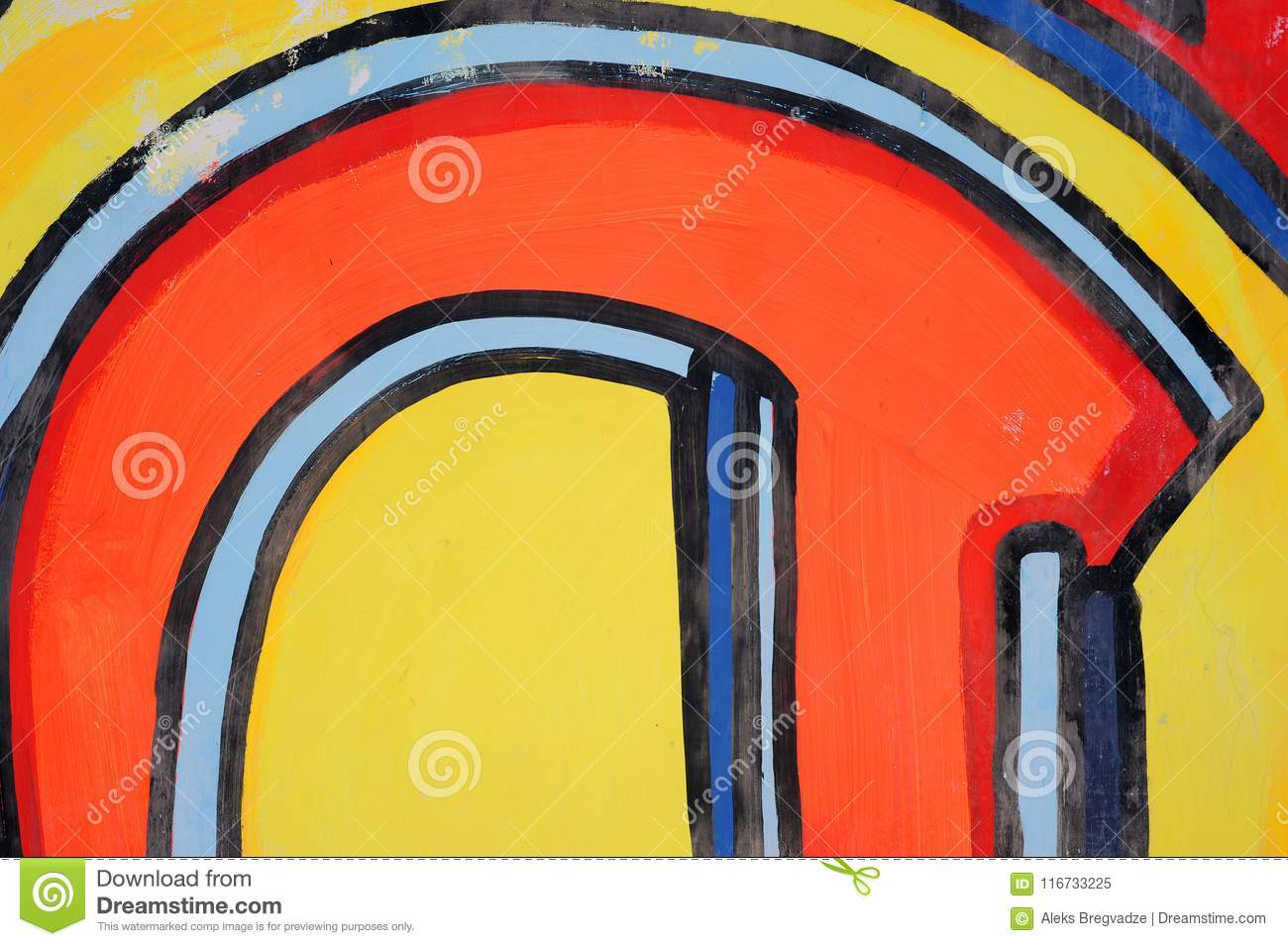 Abstract Drawing On The Wall,street Art Stock Illustration ...