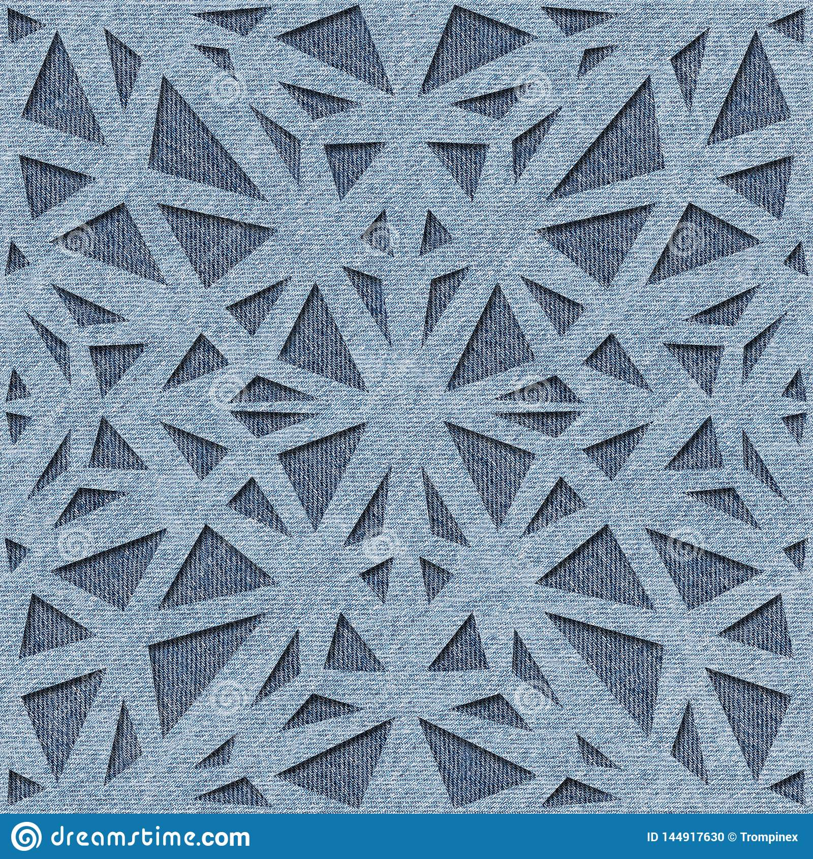 Abstract driehoekspatroon - Decoratieve opleverende stijl