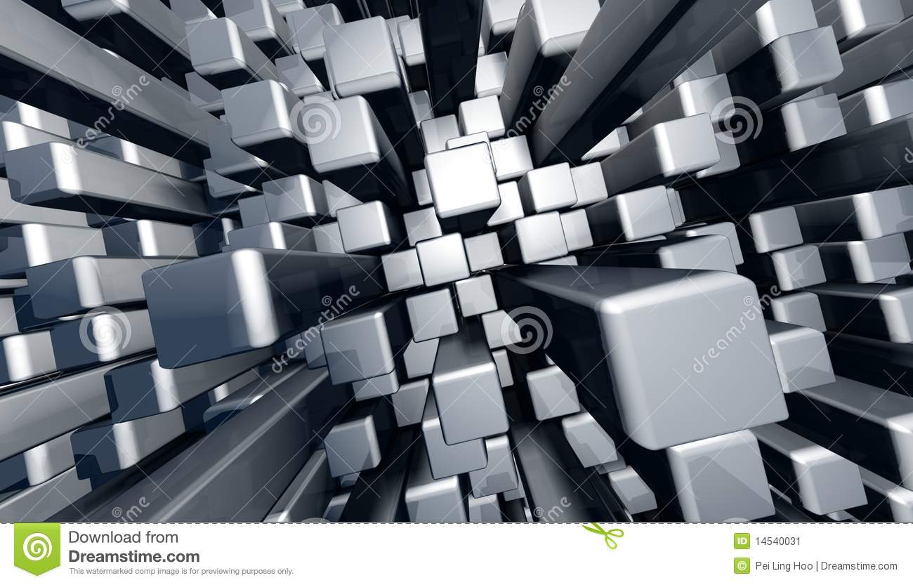 abstract dynamic block graphic background stock illustration