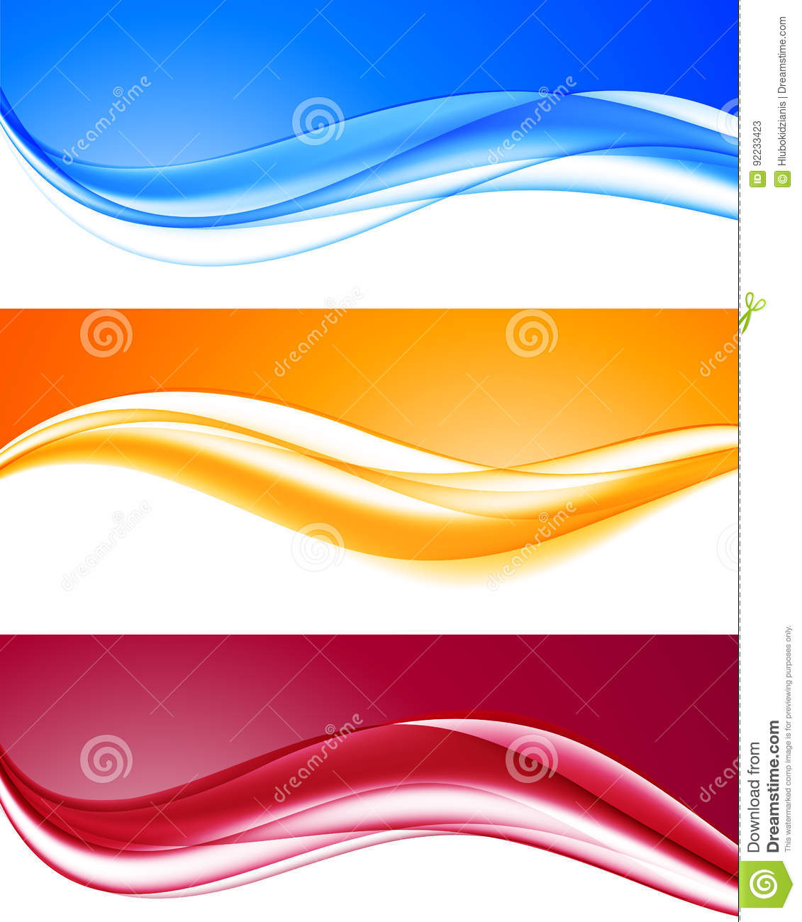 Abstract dynamic colorful wavy backgrounds set
