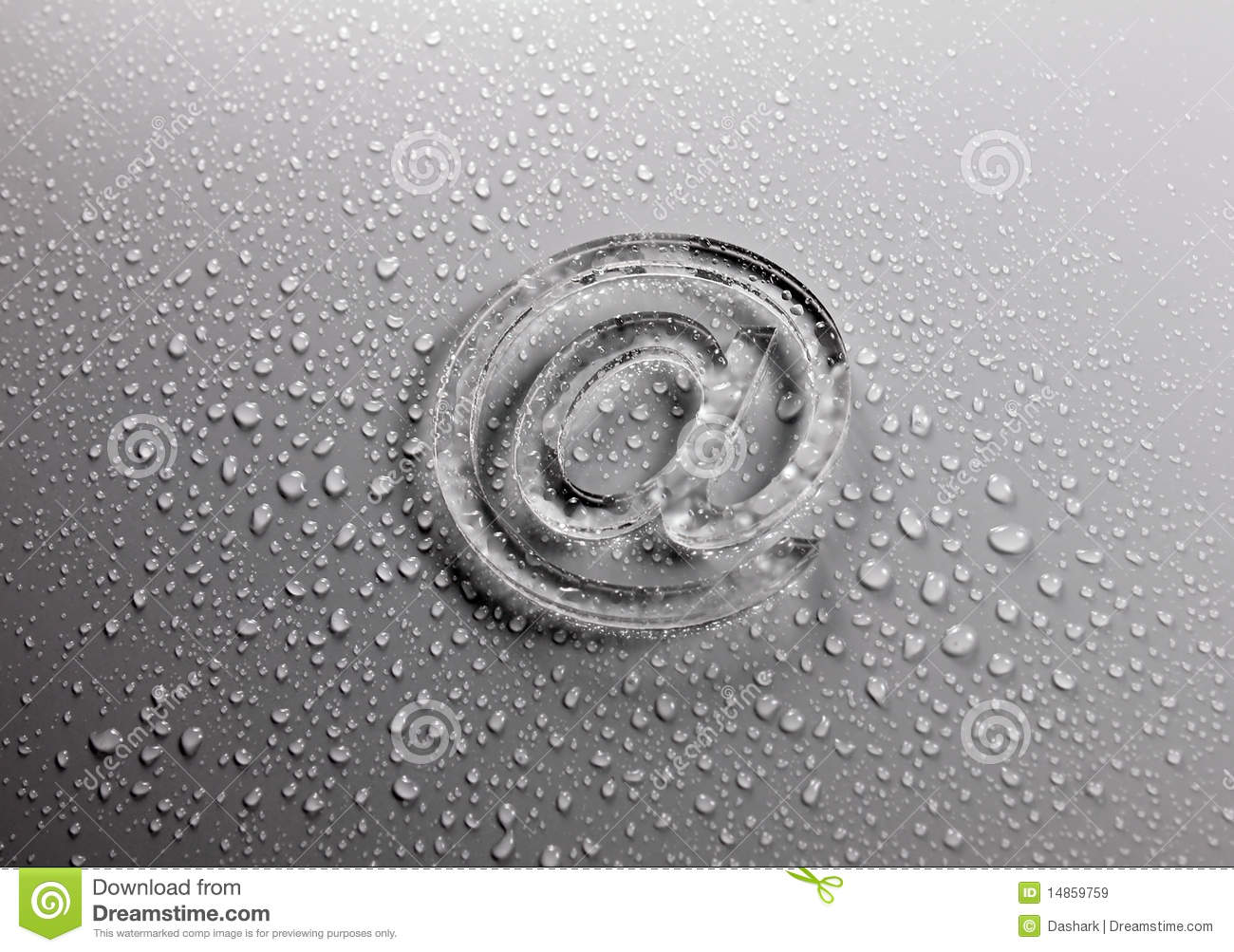 Abstract E-mail on liquid bubbles