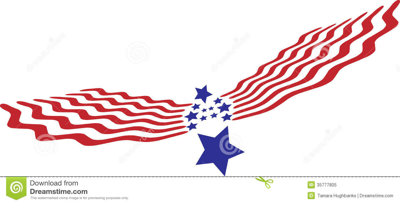 Abstract Eagle Stars And Stripes Stock Vector Illustration Of