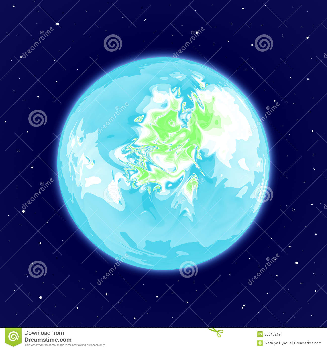 Abstract Earth-like Planet In Space Royalty Free Stock ...