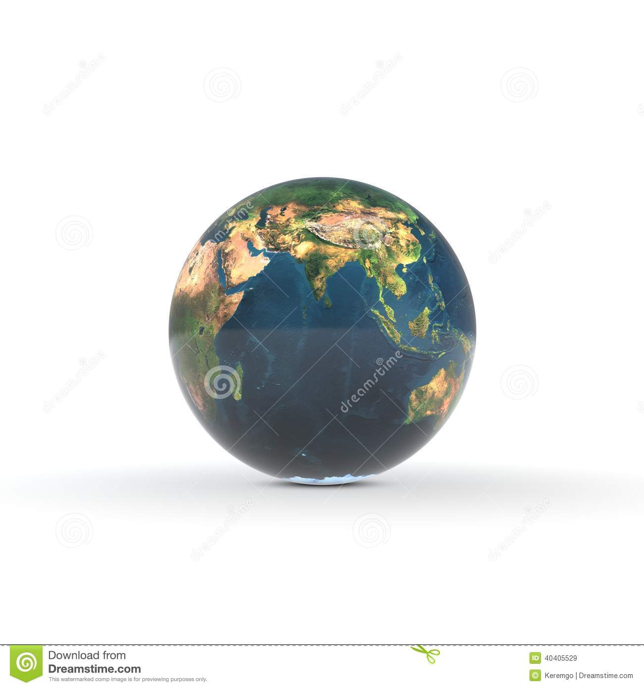 Abstract Earth On White Background Stock Illustration