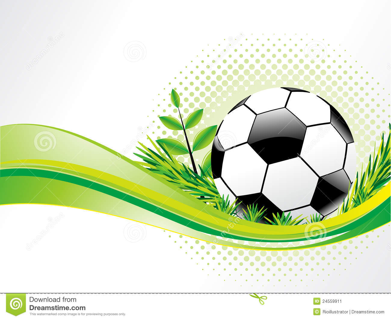 Abstract Eco Background With Football Stock Image Image