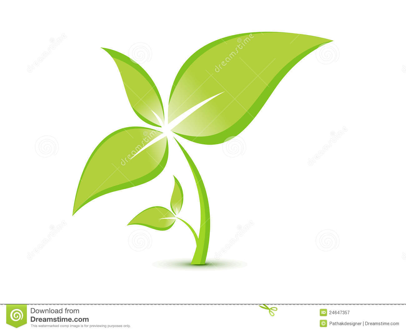 Abstract Eco Plant Template Royalty Free Stock Photography - Image ...