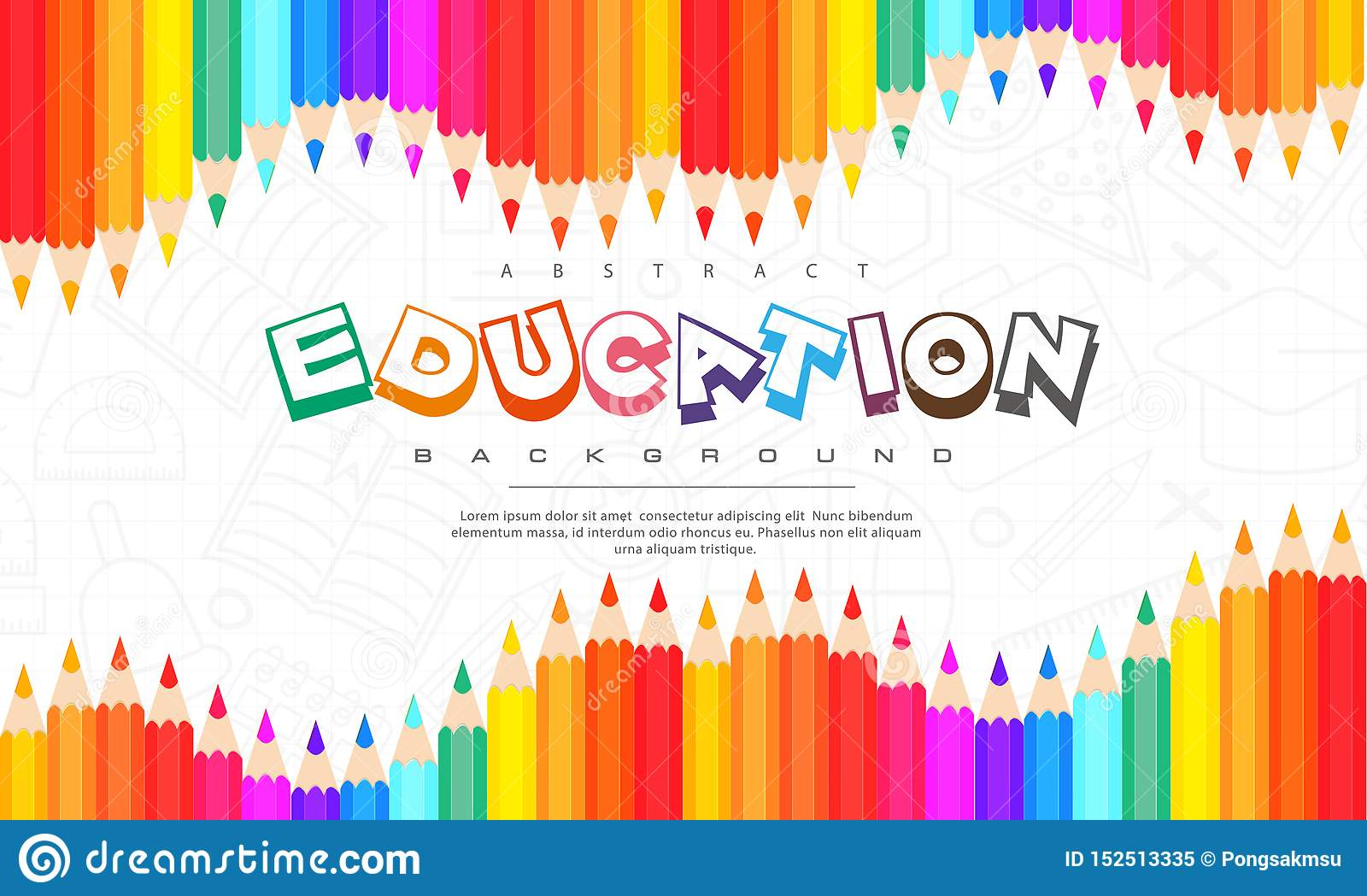 Abstract Education Background, Back To School, Learning ...
