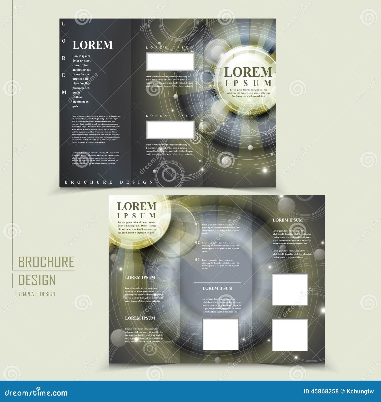 egypt brochure templates - abstract egypt style design for tri fold brochure stock
