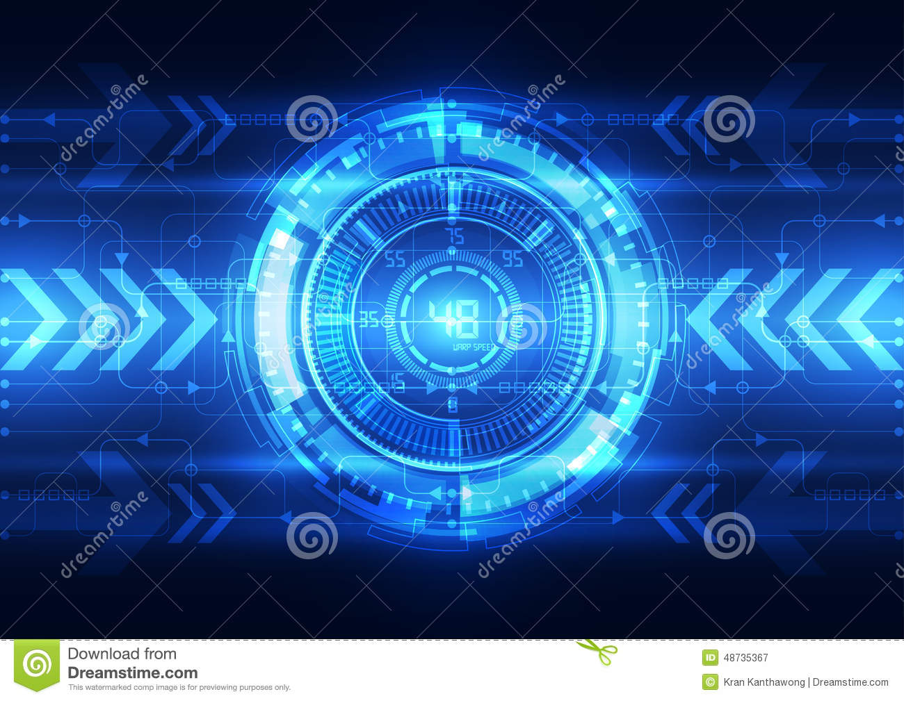 Abstract Electric Circuit Digital Brain,technology Concept ...