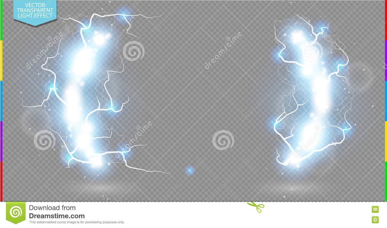 Abstract Electric Science Frame. Shine Border With Energy Lightning ...