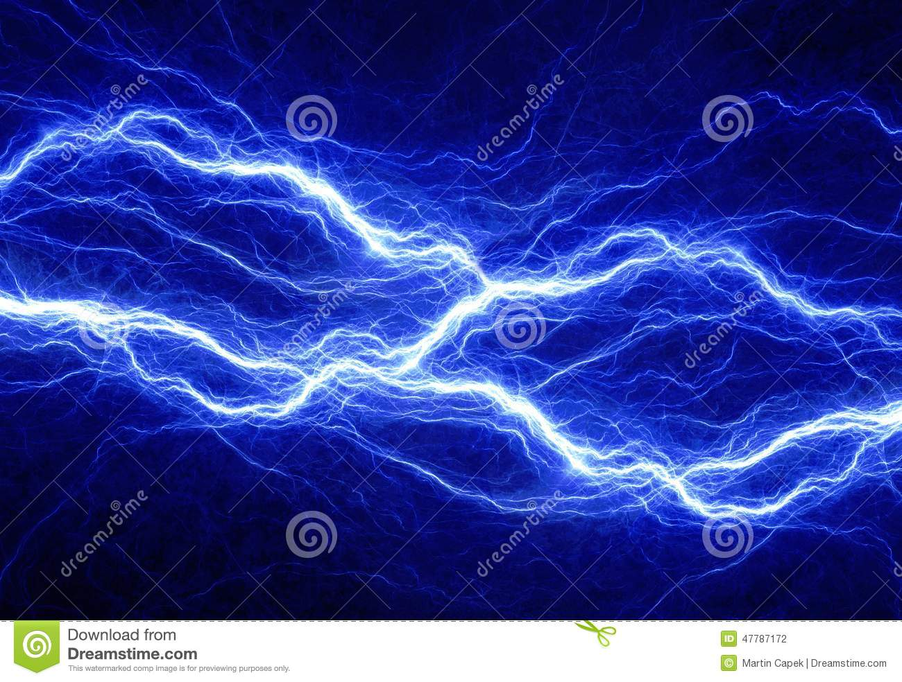 abstract blue electricity - photo #5