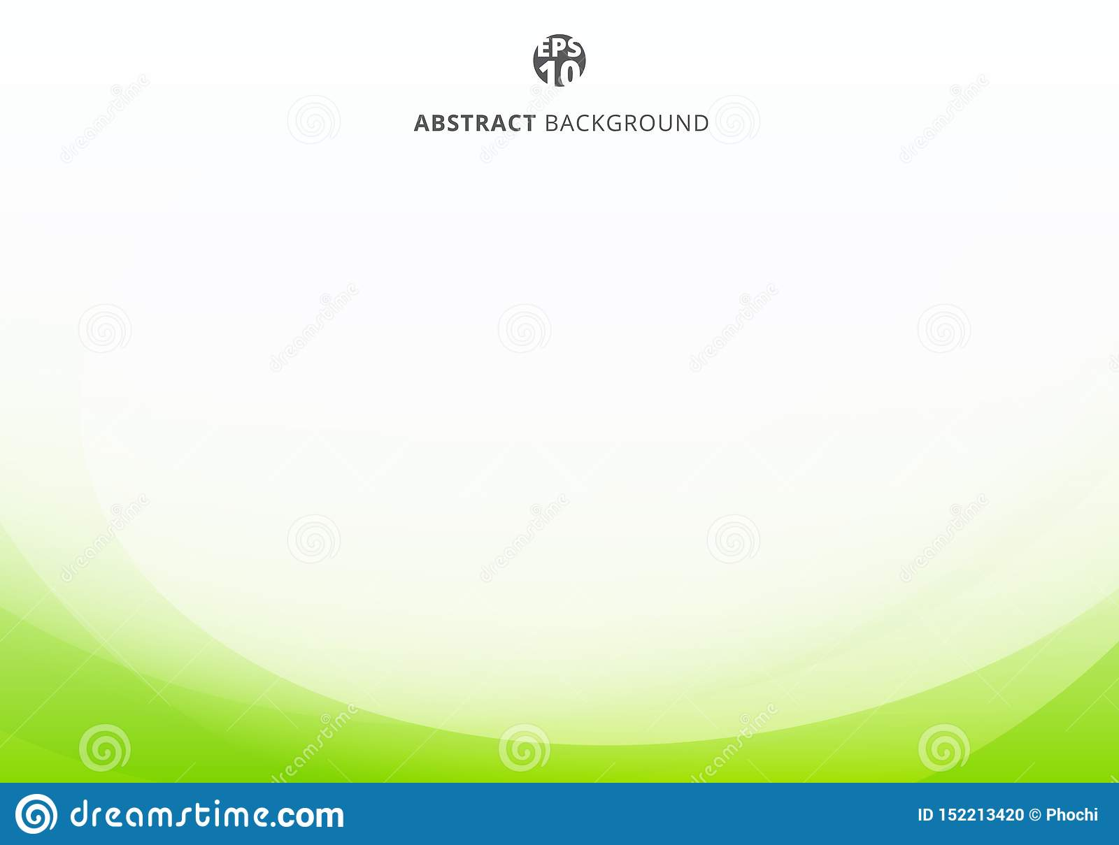 Abstract elegant green lime curve light template on white background with copy space
