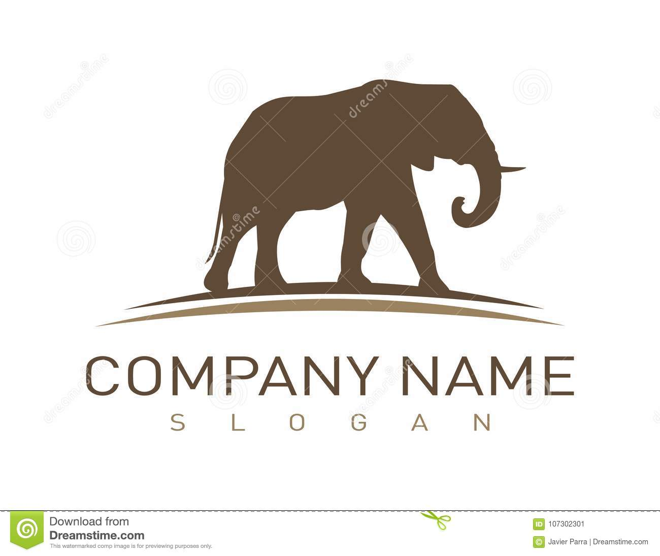 abstract-elephant-logo-white-background-