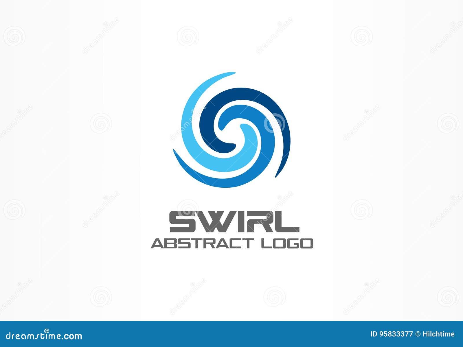 Abstract embleem voor bedrijf Eco, aard, draaikolk, kuuroord, het idee van Logotype van de aquawerveling Water spiraalvormige, bl