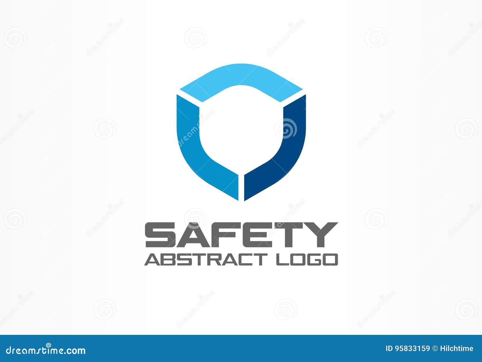 Abstract embleem voor bedrijf Het collectieve element van het identiteitsontwerp Wacht, schild, veilig agentschap logotype idee