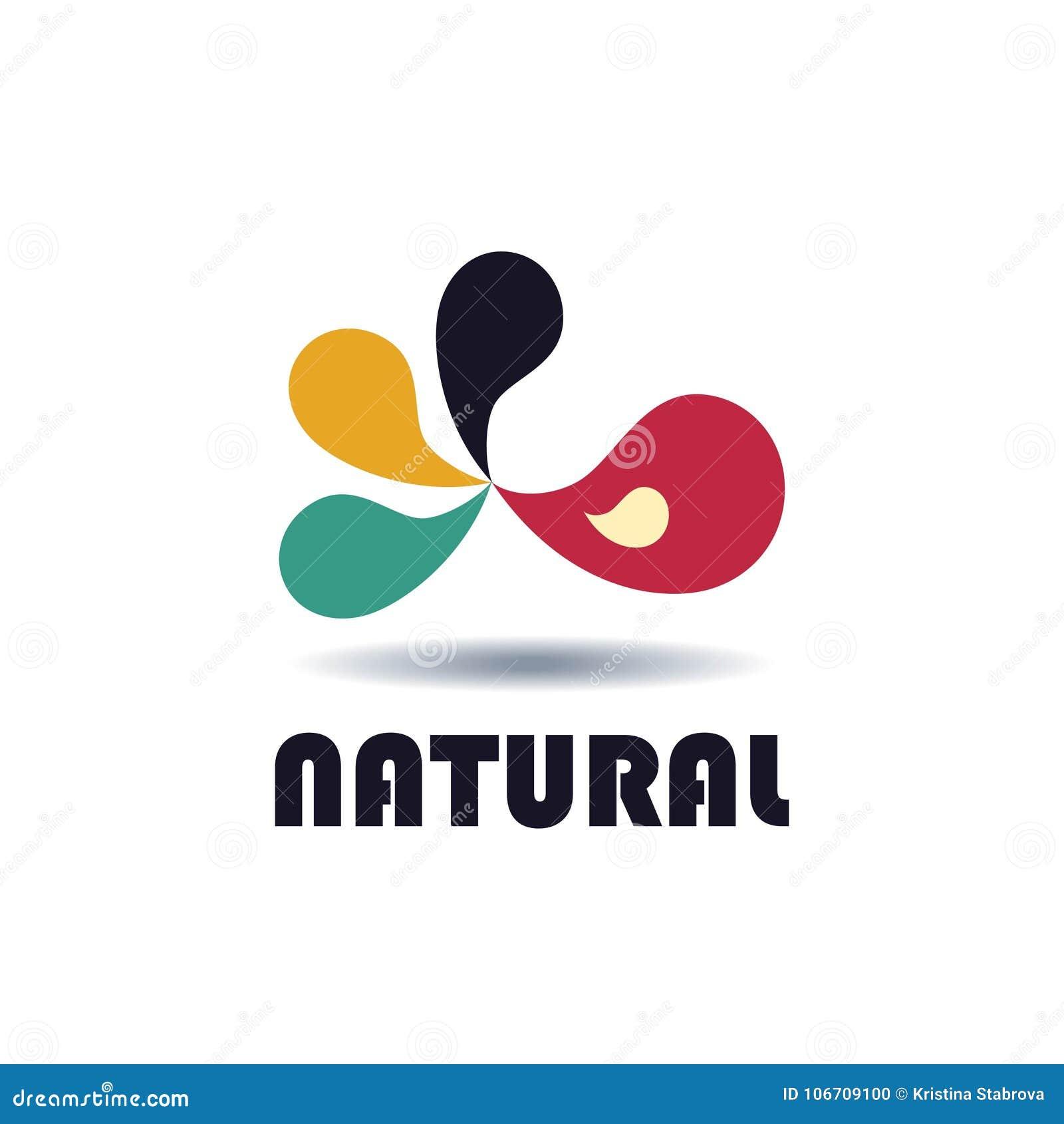 Abstract embleem voor bedrijf naughty Kleuren vectorpictogram