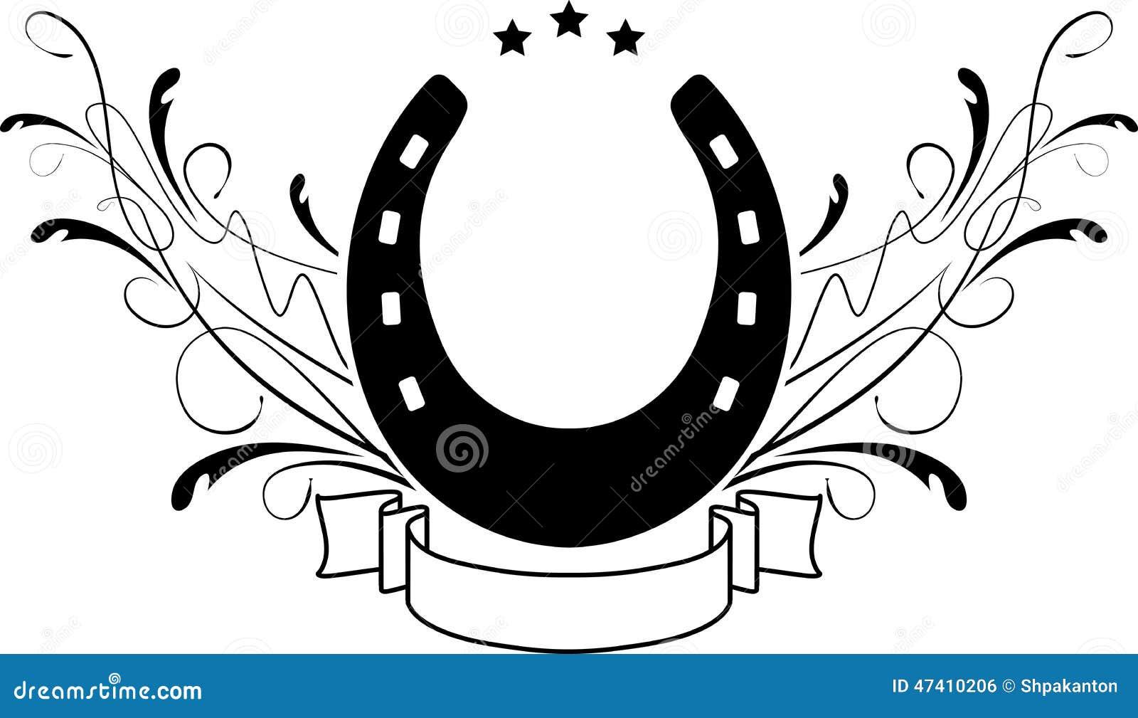 Horseshoe logo related keywords horseshoe logo long tail - Dessin fer a cheval ...