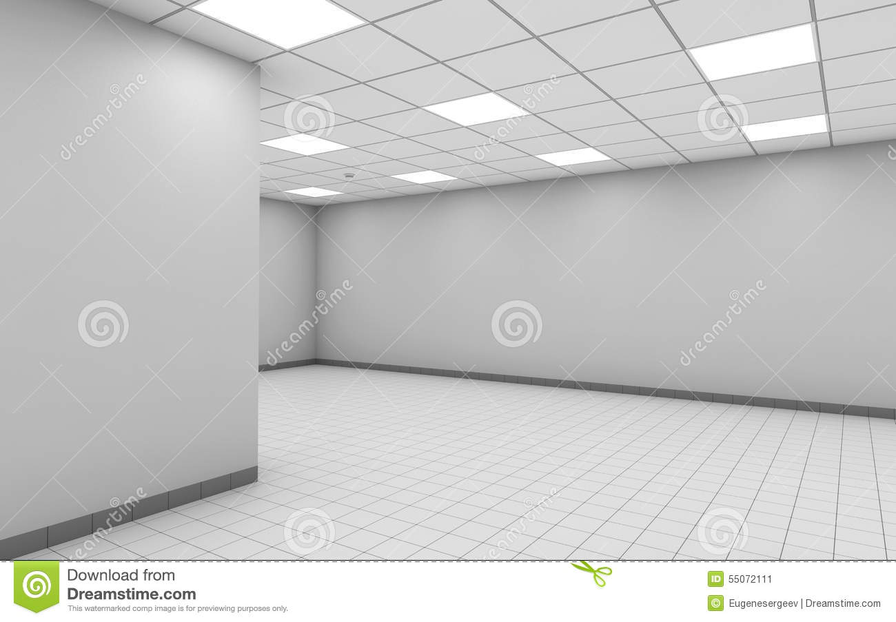 Abstract Empty Office Room Interior With White Wall 3d Stock Illustration Image 55072111