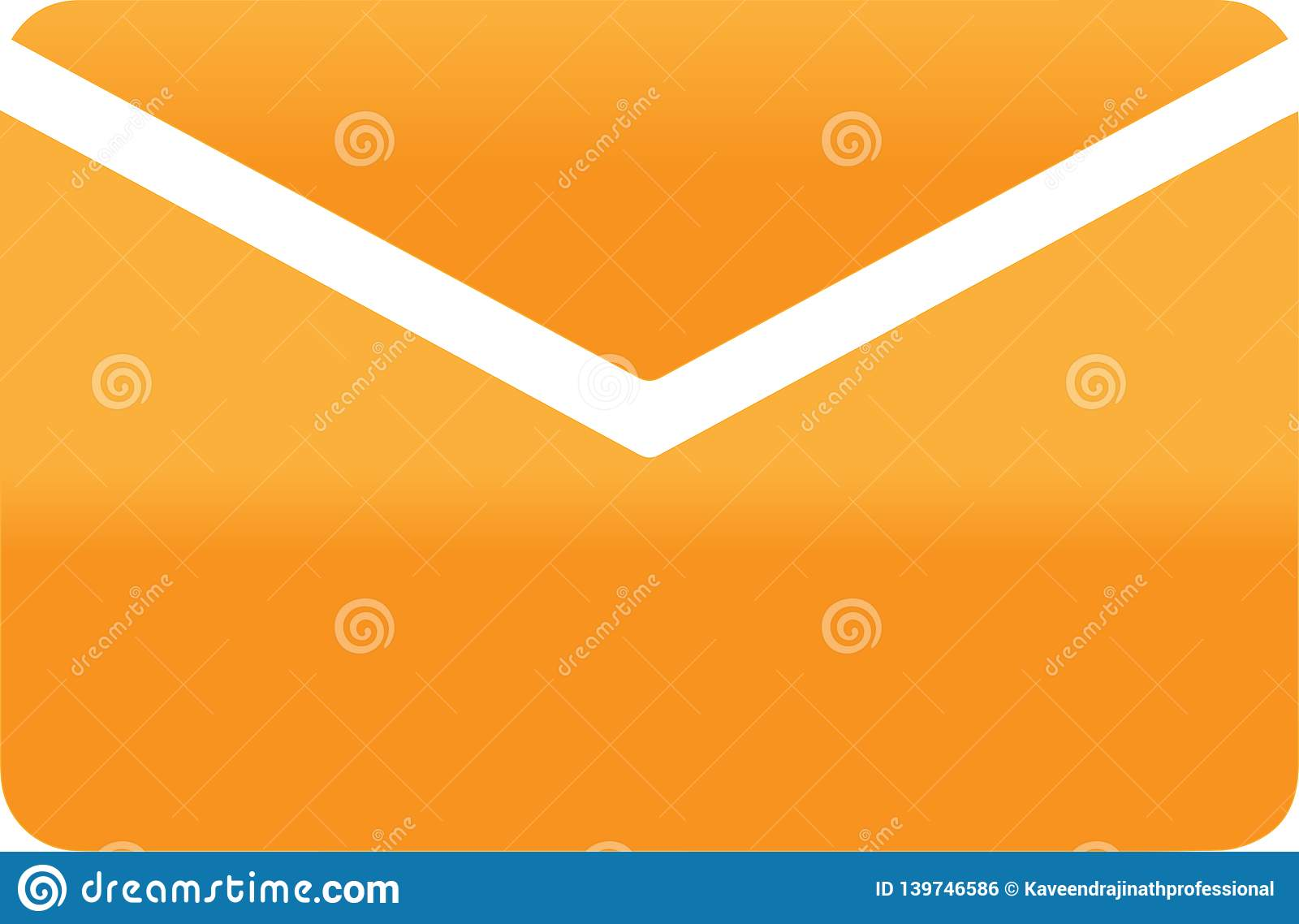 Abstract Envelope icon illustration on white