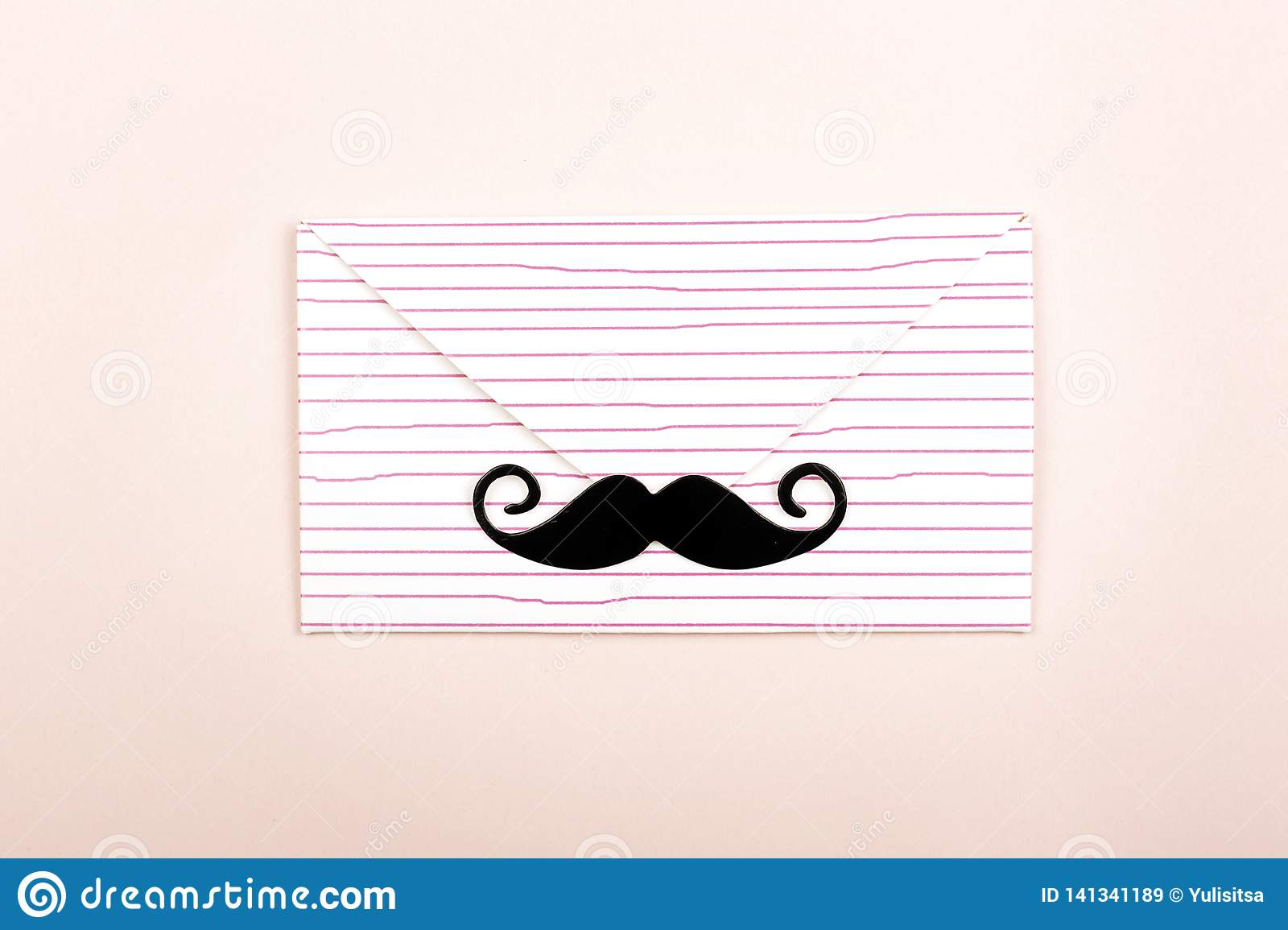 Abstract envelope with mustache