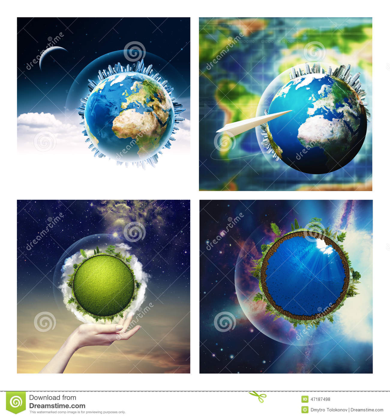 Abstract Environmental Backgrounds Set Stock Photo