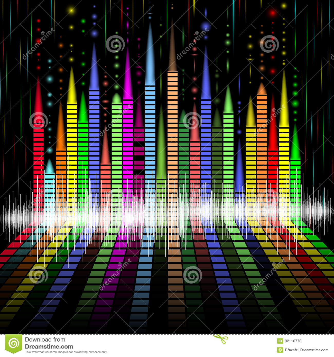 Abstract Equalizer Bacground Royalty Free Stock Photos ...