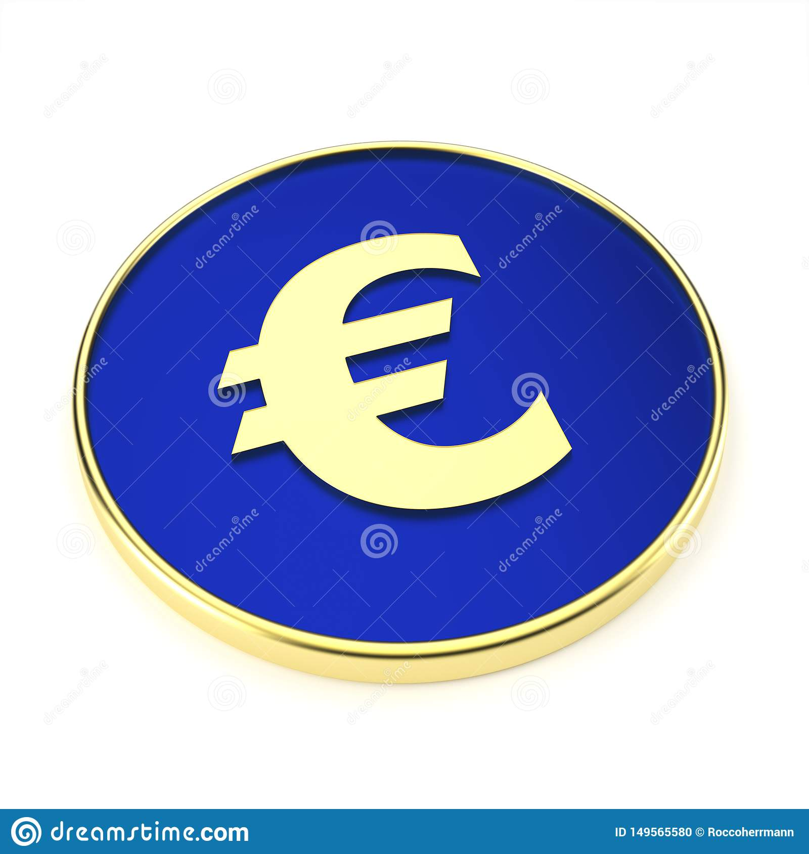 Abstract euro symbol for financial sector - Illustration