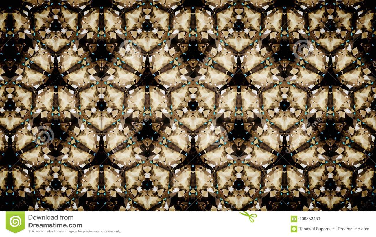 Abstract Exclusive Premium Golden Gold Green Black Polygon Wallpaper