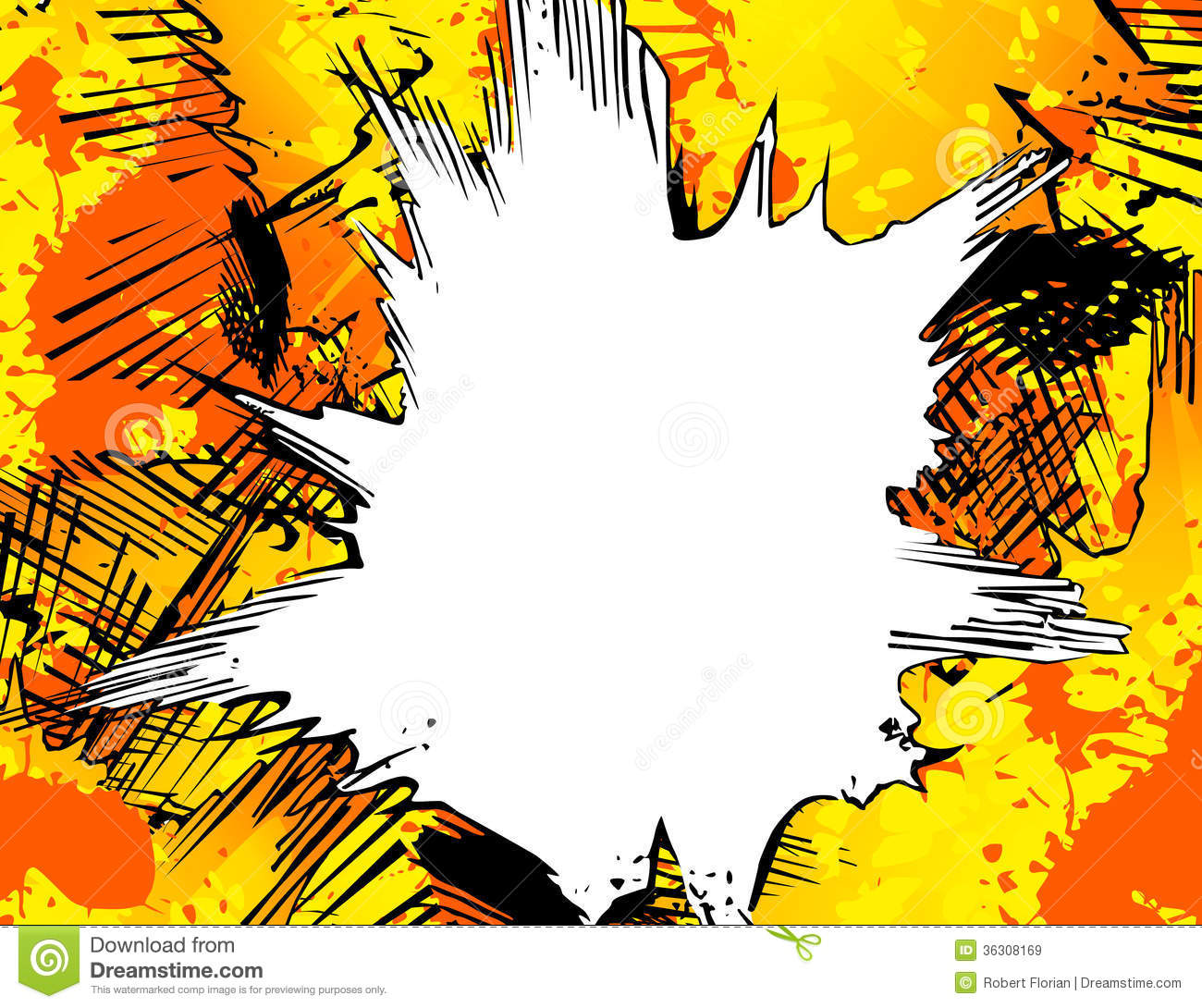 Free Comic Book Day Wallpaper: Abstract Explosion Background Stock Illustration