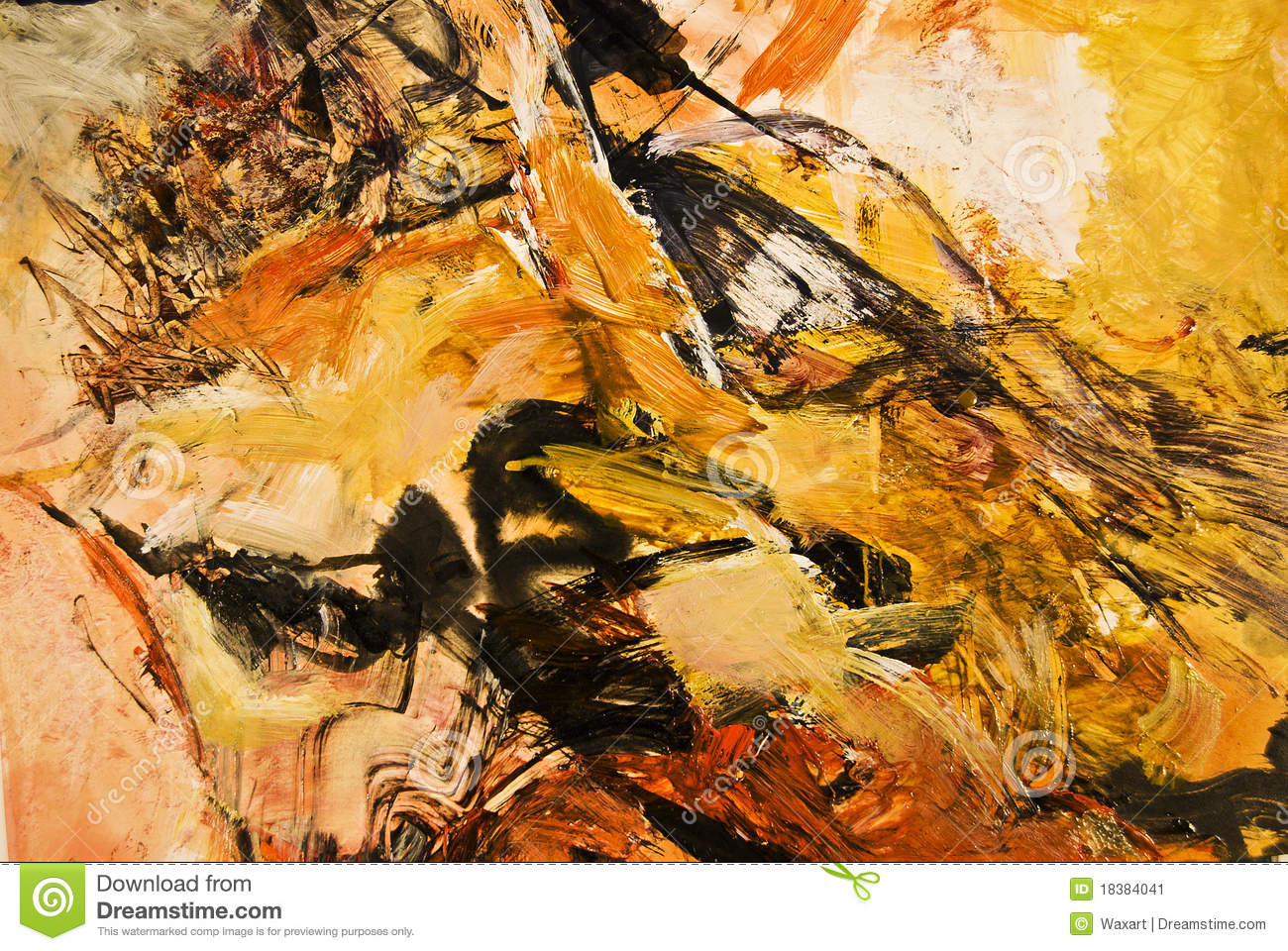 Abstract Expressionist Painting Royalty Free Stock Image - Image ...