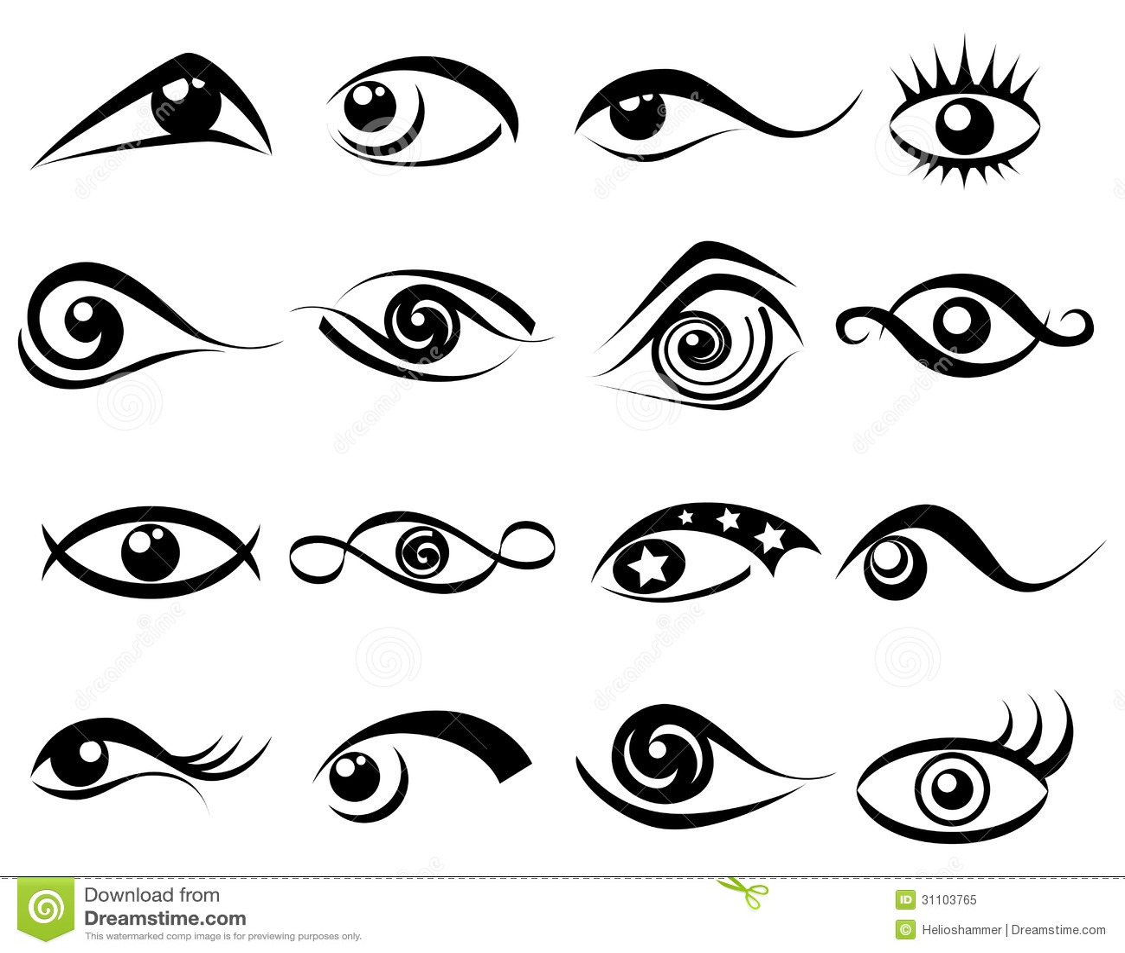 abstract eye symbol set stock vector illustration of eyeball clipart png eyeball clipart black and white