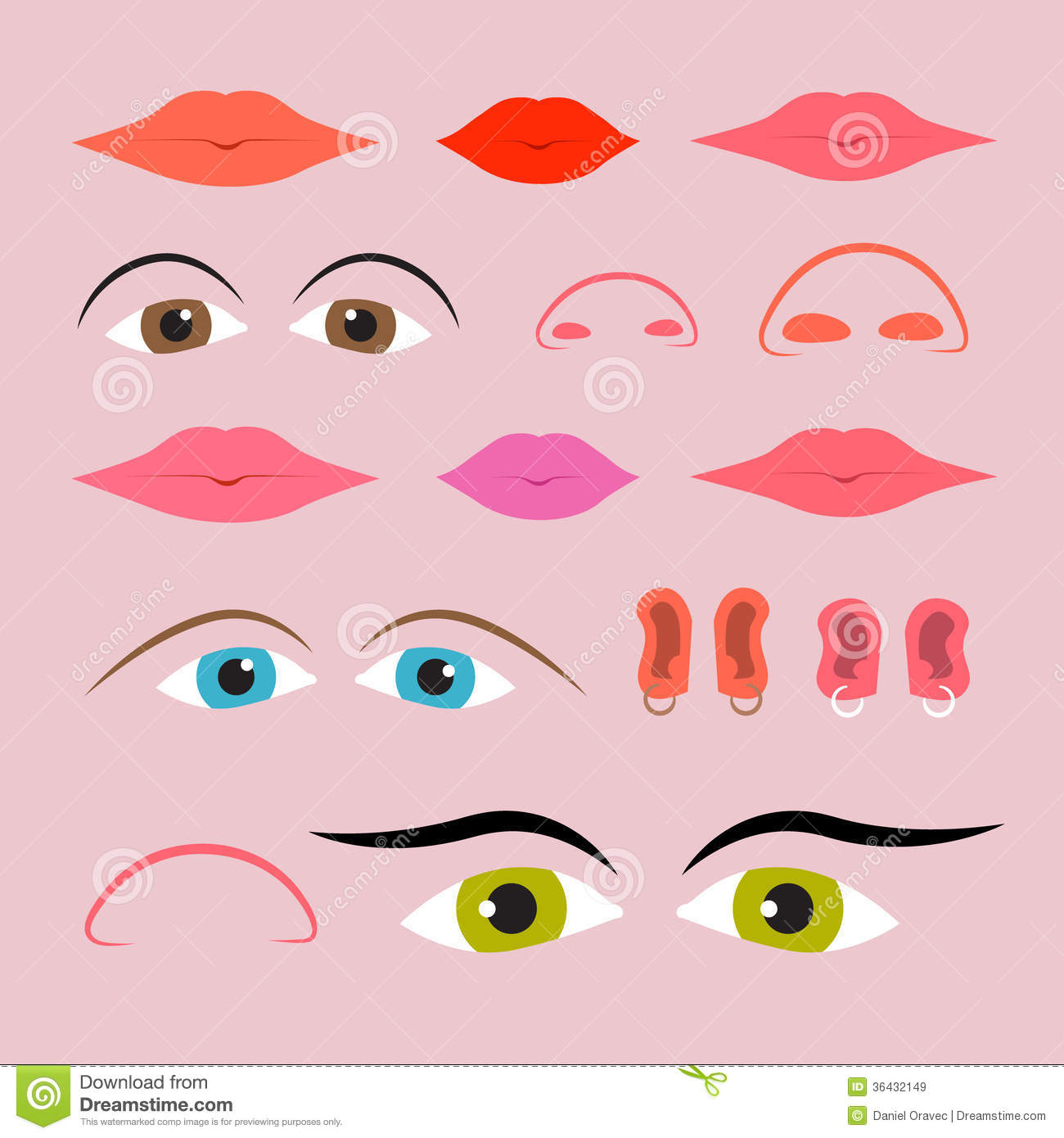 Funny Noses Clipart