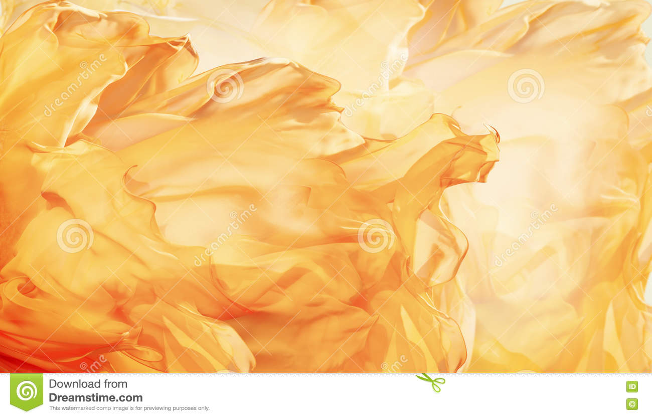 Abstract Fabric Flame Background, Artistic Waving Cloth Fractal
