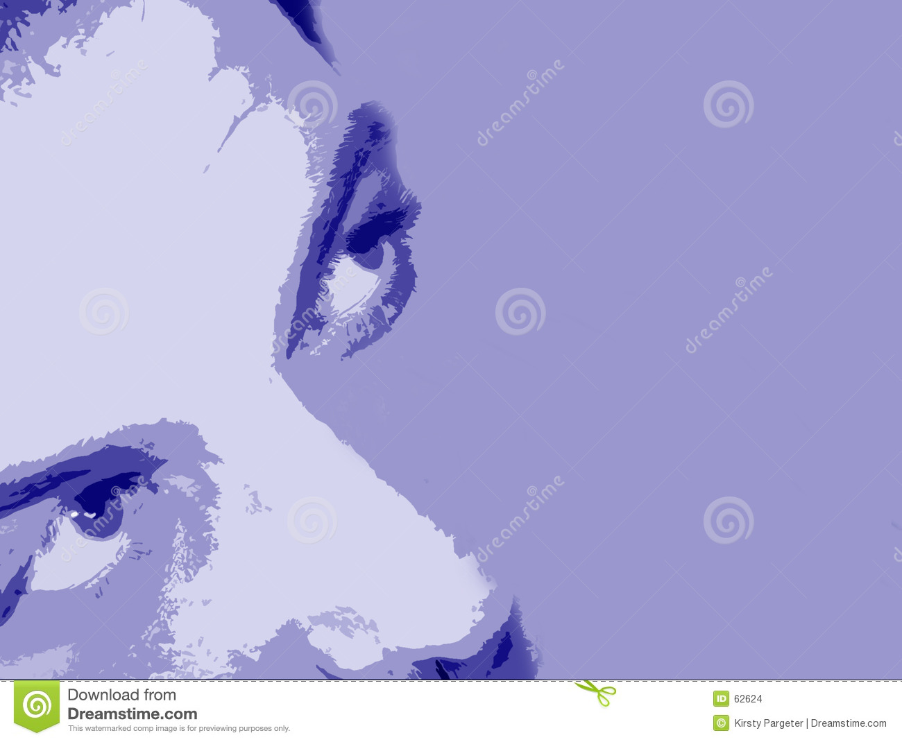 Abstract face background