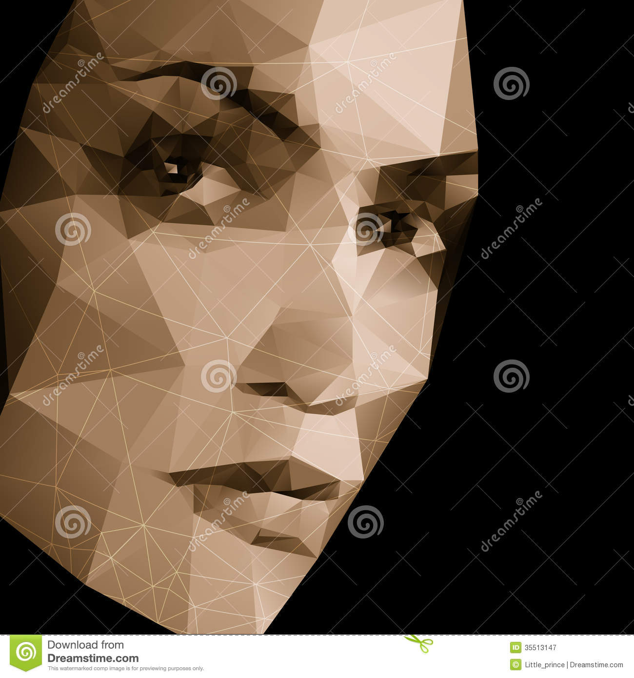 abstract face geometric background stock vector