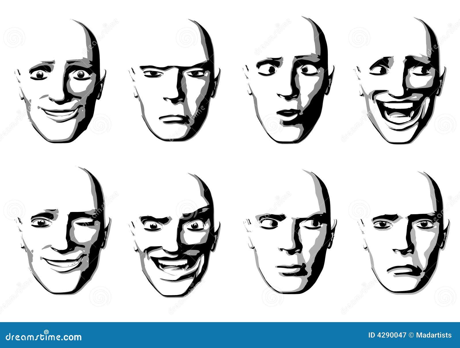 Abstract Facial Expressions Man