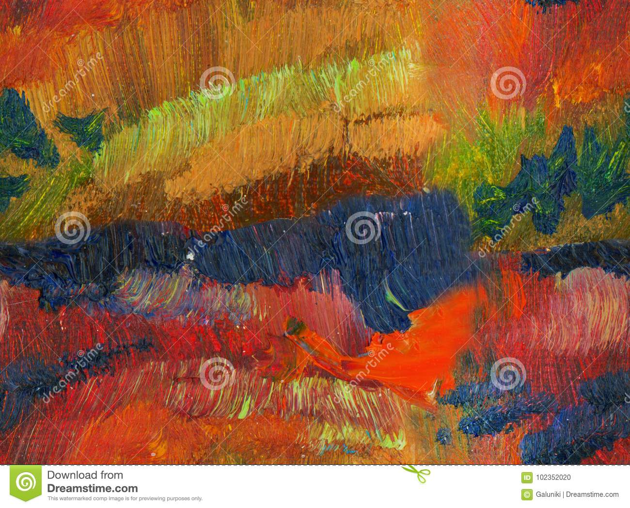 Abstract Fall Color Oil Paint Background Stock Photo